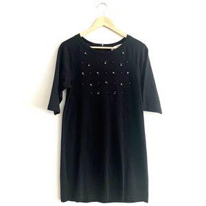 Loft Black 3/4 Sleeve Tunic Top / Dress